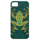 Intricate Golden Blue Tree Frog iPhone SE/5/5s Case