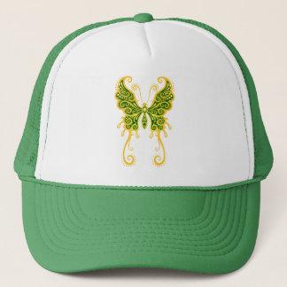 Intricate Golden Green Butterfly Trucker Hat
