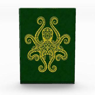Intricate Golden Green Octopus Awards