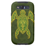 Intricate Golden Green Sea Turtle Galaxy S3 Cases
