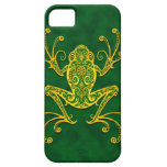 Intricate Golden Green Tree Frog Case For The iPhone 5