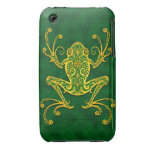 Intricate Golden Green Tree Frog iPhone 3 Case-Mate Case