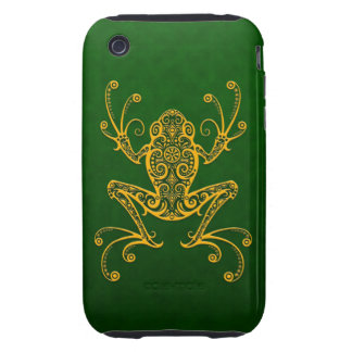 Intricate Golden Green Tree Frog Tough iPhone 3 Cover