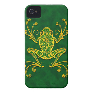 Intricate Golden Green Tree Frog Case-Mate iPhone 4 Case