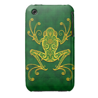 Intricate Golden Green Tree Frog iPhone 3 Covers
