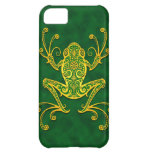 Intricate Golden Green Tree Frog iPhone 5C Cases