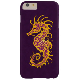 Intricate Golden Purple Seahorse Design Barely There iPhone 6 Plus Case