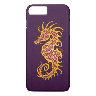 Intricate Golden Purple Seahorse Design iPhone 7 Plus Case