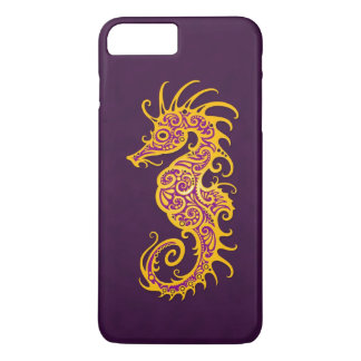 Intricate Golden Purple Seahorse Design iPhone 8 Plus/7 Plus Case
