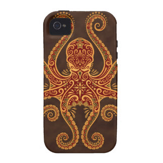 Intricate Golden Red Octopus iPhone 4/4S Case