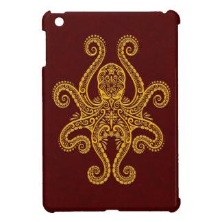 Intricate Golden Red Octopus iPad Mini Cases