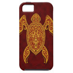 Intricate Golden Red Sea Turtle iPhone 5 Cover