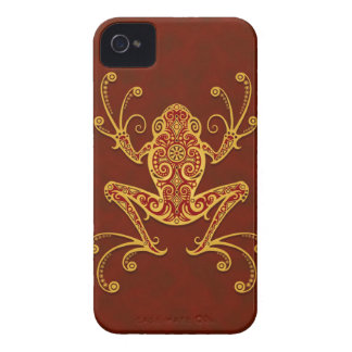 Intricate Golden Red Tree Frog iPhone 4 Case