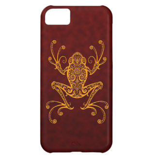 Intricate Golden Red Tree Frog Case For iPhone 5C
