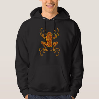 Intricate Golden Red Tree Frog Hoodie
