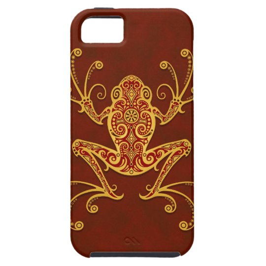 Intricate Golden Red Tree Frog iPhone SE/5/5s Case