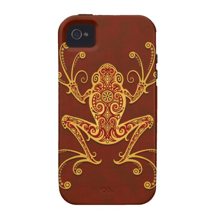 Intricate Golden Red Tree Frog Vibe iPhone 4 Cover