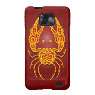 Intricate Golden Red Tribal Cancer Samsung Galaxy S2 Covers