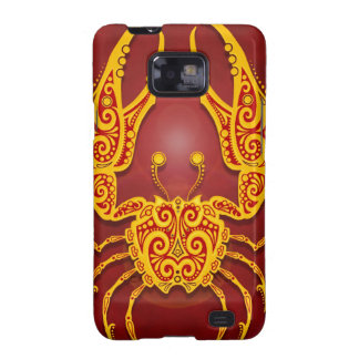 Intricate Golden Red Tribal Cancer, tight Samsung Galaxy S2 Case
