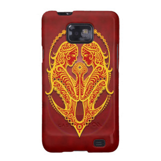 Intricate Golden Red Tribal Gemini Samsung Galaxy S2 Covers