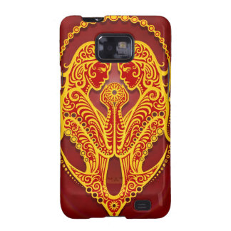 Intricate Golden Red Tribal Gemini, tight Samsung Galaxy S2 Cover