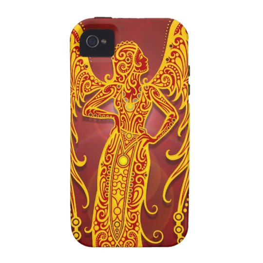 Intricate Golden Red Tribal Virgo, tight Case-Mate iPhone 4 Case