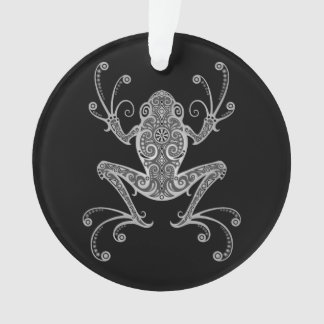 Intricate Gray Tree Frog Ornament