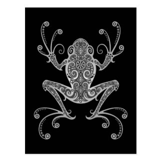 Intricate Gray Tree Frog Postcard