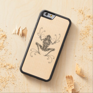 Intricate Gray Tree Frog Carved® Maple iPhone 6 Bumper