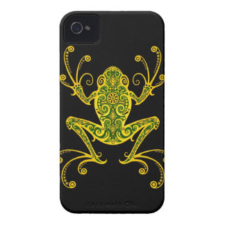 Intricate Green and Black Tree Frog Case-Mate iPhone 4 Cases