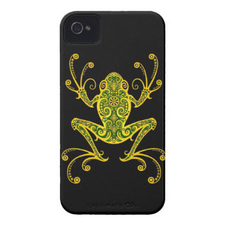 Intricate Green and Black Tree Frog iPhone 4 Case