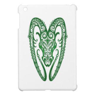 Intricate Green Aries Zodiac on White Case For The iPad Mini