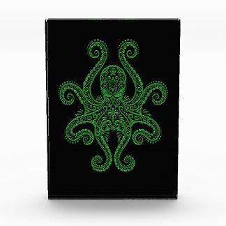 Intricate Green Octopus on Black Awards