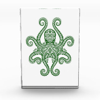Intricate Green Octopus on White Awards