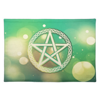 Intricate green pentacle placemat