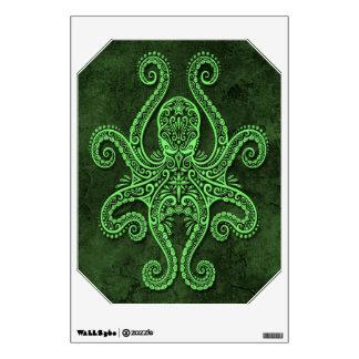 Intricate Green Stone Octopus Wall Sticker