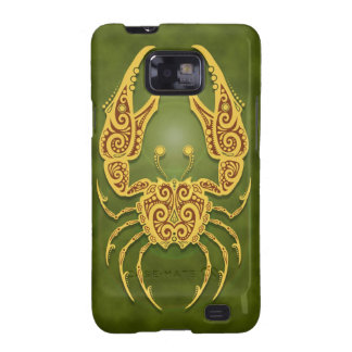 Intricate Green Tribal Cancer Galaxy S2 Covers