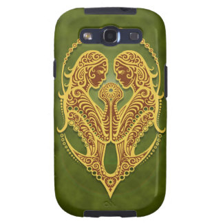 Intricate Green Tribal Gemini Samsung Galaxy S3 Cover