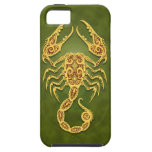 Intricate Green Tribal Scorpio iPhone 5 Cover