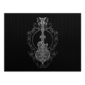 Intricate Guitar on Steel Mesh Post Cards