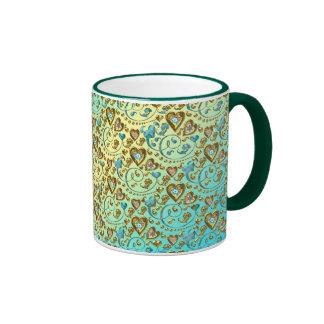 Intricate Heart Design Coffee Mug