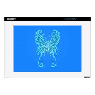 Intricate Light Blue Butterfly Laptop Skins