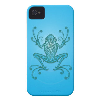 Intricate Light Blue Tree Frog iPhone 4 Covers