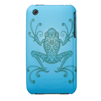 Intricate Light Blue Tree Frog Case-Mate iPhone 3 Cases