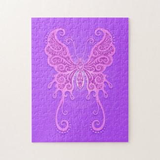 Intricate Light Purple Butterfly Jigsaw Puzzle