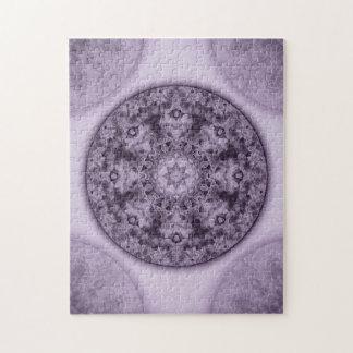 Intricate Lilac Monochromatic Mandala Kaleidoscope Puzzle