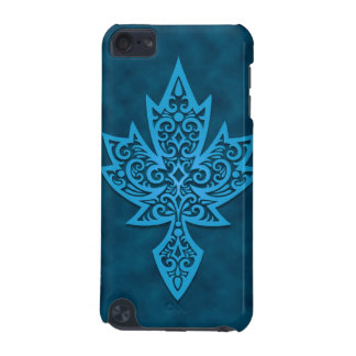 Intricate Maple Leaf - blue iPod Touch 5G Case