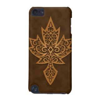 Intricate Maple Leaf - brown iPod Touch (5th Generation) Cover