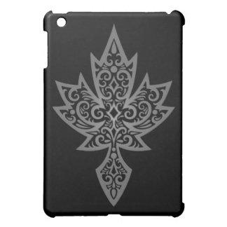 Intricate Maple Leaf - dark iPad Mini Case