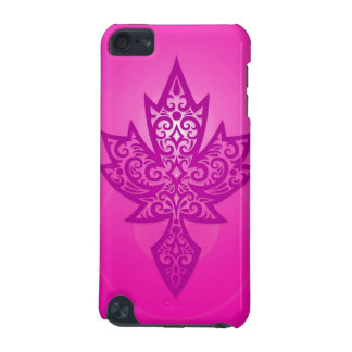 Intricate Maple Leaf - deep pink iPod Touch (5th Generation) Cover